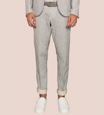 striped mixed linen...